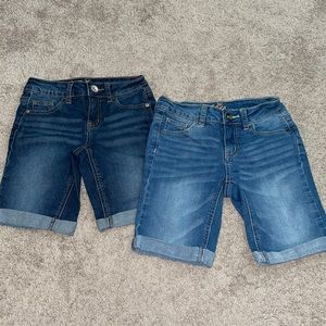 Justice 10 slim Jean shorts girls bermuda denim